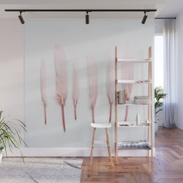 Pale Feathers Wall Mural