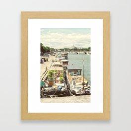 Boats on the Seine Framed Art Print