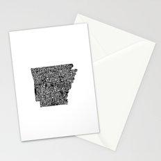 Typographic Arkansas Stationery Cards