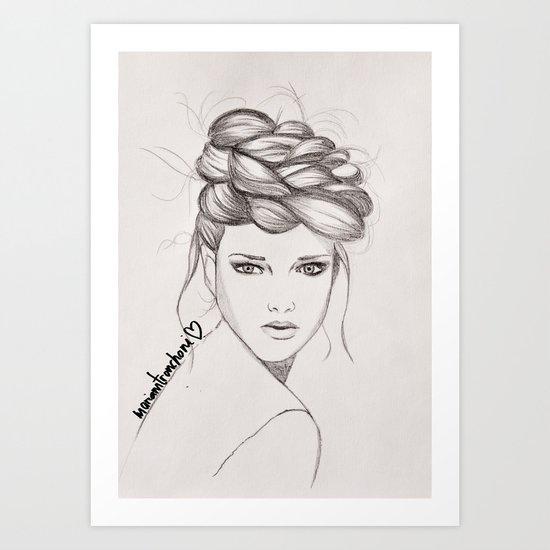 Messyhair Art Print