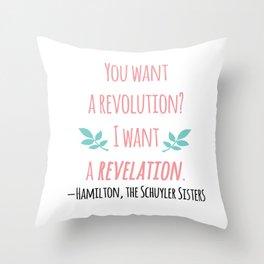 THE SCHUYLER SISTERS | HAMILTON Throw Pillow