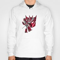 transformers Hoodies featuring Transformers Air Guitar'n Con by Laserbot