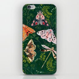 Moths and dragonfly iPhone Skin