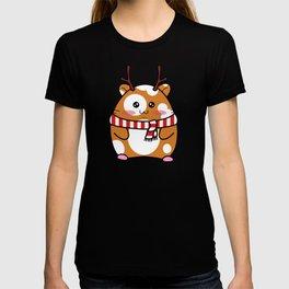 Christmas Antlers - Hamster in Deer Antlers & Scarf T-shirt