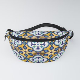 Yellow and Blue Moroccan Tile Fanny Pack
