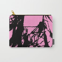 Pink Base black Carry-All Pouch