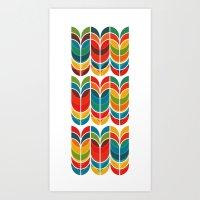 tulip Art Prints featuring Tulip by Picomodi