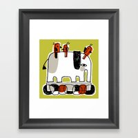 RED RIDERS Framed Art Print