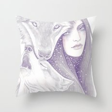 Winter Allies Throw Pillow