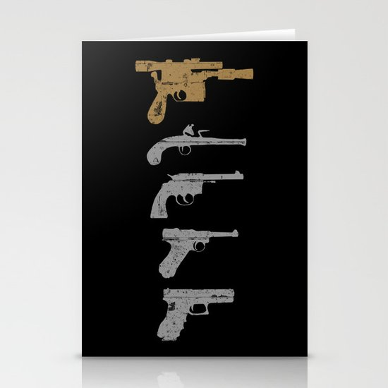 A long time ago with a blaster far, far away... Stationery Cards