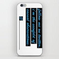 Follow me on Twitter iPhone & iPod Skin