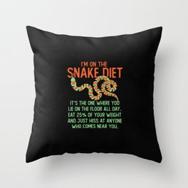 Ophiology Pet Snakes Diet and Reptiles Gift Idea Throw Pillow