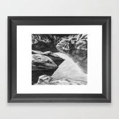 Pinnacles Reservoir Framed Art Print