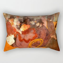 """Henri de Toulouse-Lautrec """"At the Moulins Rouge"""" Rectangular Pillow"""
