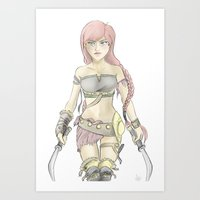 gladiator Art Prints featuring Gladiator by xx-insatiable-xx