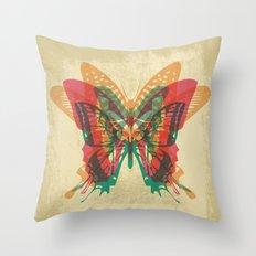 Butterfly Rorschach Throw Pillow