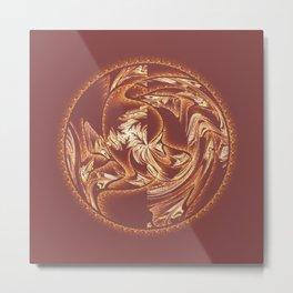Fractal Abstract Sphere Metal Print