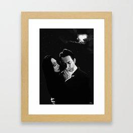 Gomez and Morticia Addams  Framed Art Print