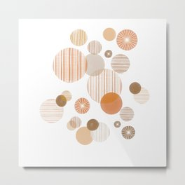 Effervescence in Tangerine Metal Print