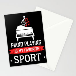 Piano musician concert orchestra pianist Stationery Cards
