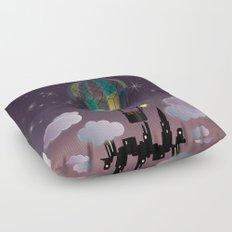 Balloon Aeronautics Night Floor Pillow