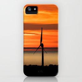 Isle of Anglesey Windmill Sunset over Irish Sea iPhone Case