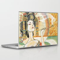 gustav klimt Laptop & iPad Skins featuring Klimt Oiran by Sara Richard