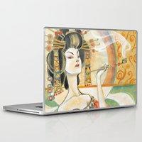 klimt Laptop & iPad Skins featuring Klimt Oiran by Sara Richard