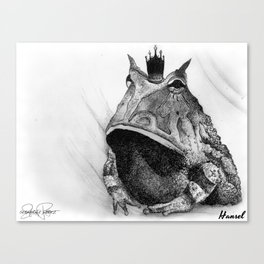 HANSEL Frog Prince Print Canvas Print