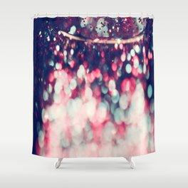 Pinky Blue Glitter Bokeh Blur Shower Curtain