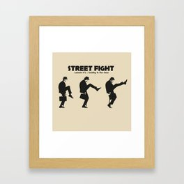 Street Fight Framed Art Print