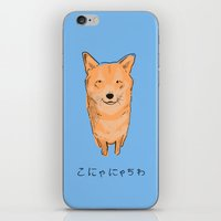 shiba iPhone & iPod Skins featuring Shiba Inu by Michael Constantine