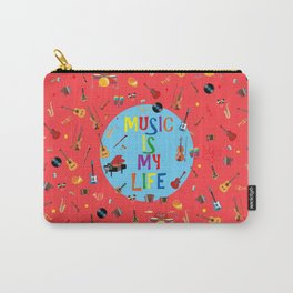 Music is my life (Soft red) Carry-All Pouch
