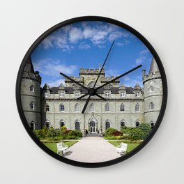 Scotland Tower Inveraray Castle path castle Lawn Bench Cities towers Trail Castles Wall Clock