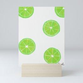 Pattern of Limes in Watercolor Mini Art Print
