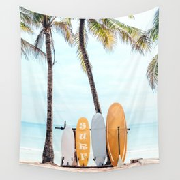 Choose Your Surfboard Wall Tapestry