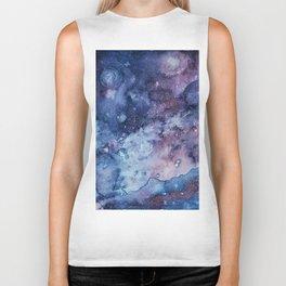 Galaxy , space , universe 3 Biker Tank