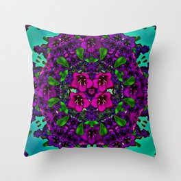 mandala universe and all will be in bloom again Throw Pillow