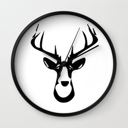 ''Nowhere Collection'' - Deer Face Print Wall Clock