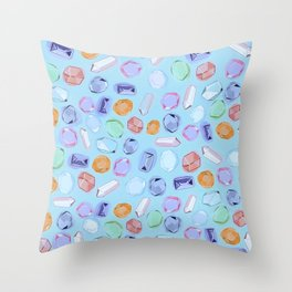 Rhinestones and crystals Throw Pillow