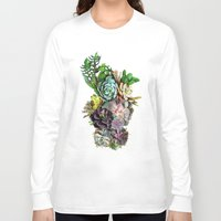 succulent Long Sleeve T-shirts featuring Succulent gardens by Nadine May