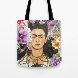 Frida Flower abstract Tote Bag