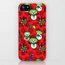 Mariachi Snowmen iPhone Case