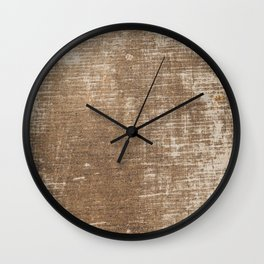 Cement Weathered Brown Abstract Photograph Wall Clock
