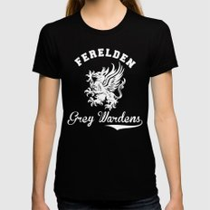 Dragon Age - Ferelden Grey Wardens LARGE Womens Fitted Tee Black