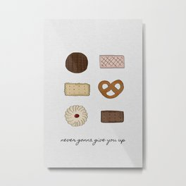 Never Gonna Give You Up, Kitchen Decor Metal Print