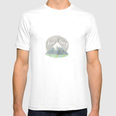 keep going White MEDIUM Mens Fitted Tee