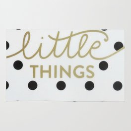Enjoy the Little Things Saying Rug