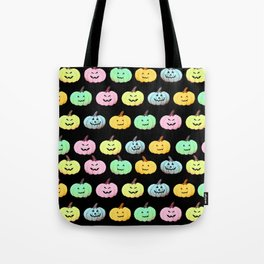 Neon Halloween Pumpkin, Jack O Lantern, Cute and Creepy Tote Bag