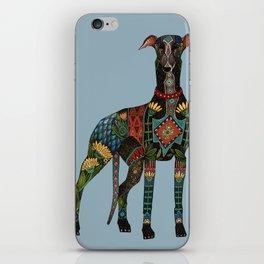 greyhound azure blue iPhone Skin